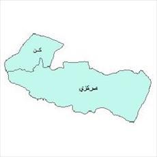 نقشه ی بخش های شهرستان تهران