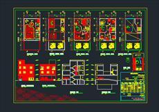 نقشه های اتوکد ساختمان مسکونی 2 طبقه به همراه فایل پاورپوینت ضوابط و قوانین شهرداری در طراحی مسکونی