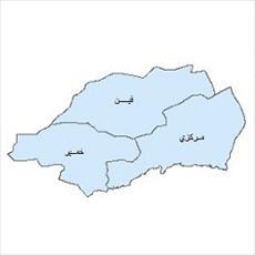 نقشه ی بخش های شهرستان بندرعباس