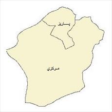 نقشه ی بخش های شهرستان سیرجان