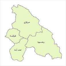 نقشه ی بخش های شهرستان مشهد