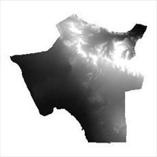 نقشه ی مدل رقومی ارتفاعی شهرستان تفت